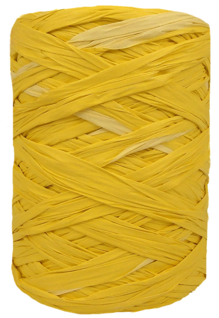 Yellow + Lime Wide Raffia 55mm