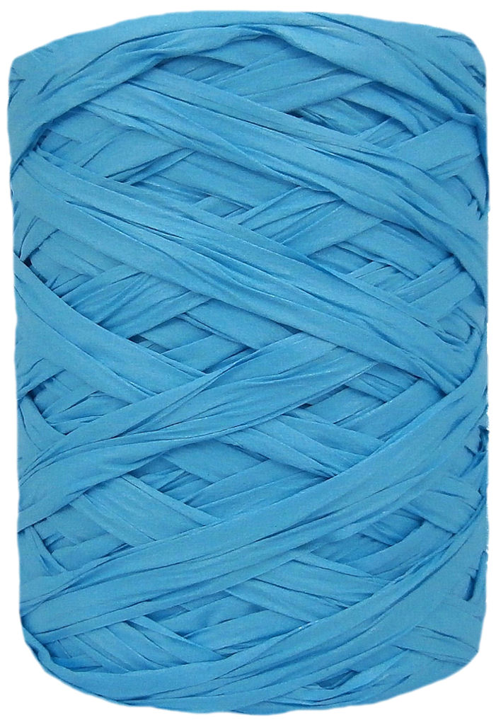 Blue Wide Raffia 55mm
