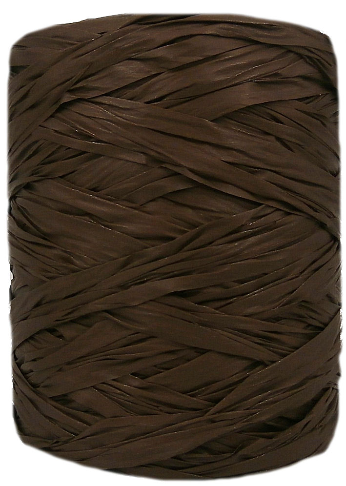 Chocolate Wide Raffia 55mm