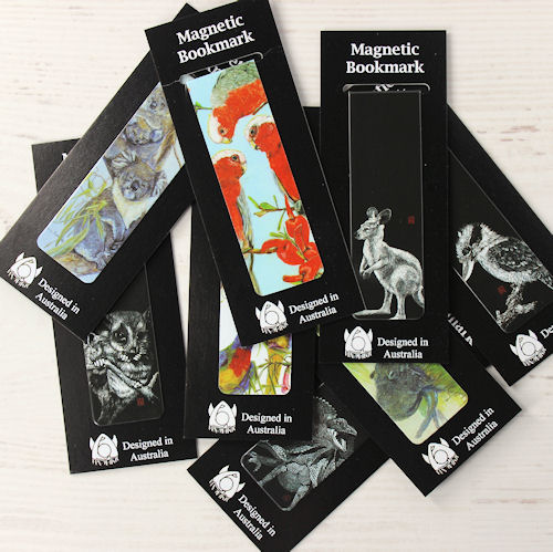 Magnetic Bookmarks Australiana Mix