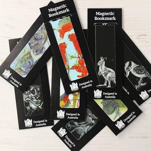 Magnetic Bookmarks Australiana Mix