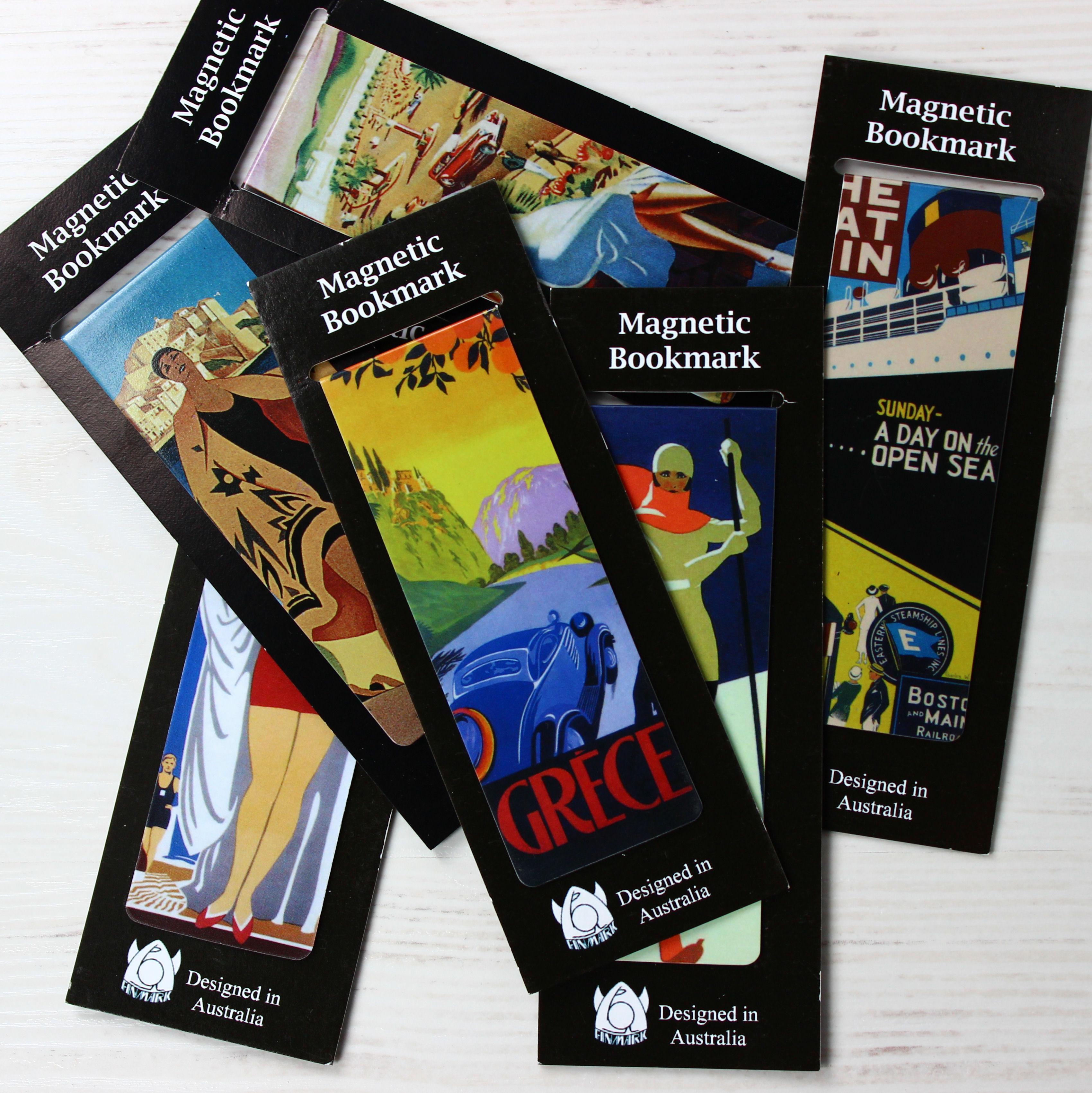 Magnetic Bookmark Art Deco Mix