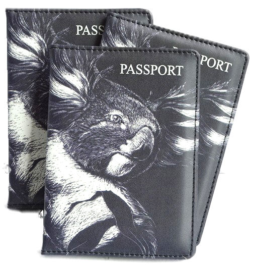 Passport Holder B+W Koala