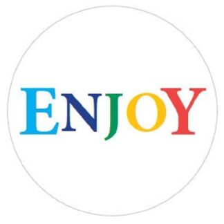 """Enjoy"" Rainbow Sticker"