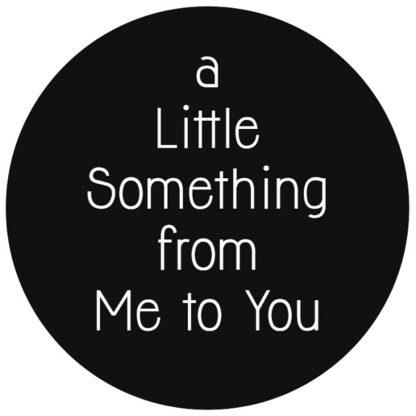 """A Little"" B+W Sticker"