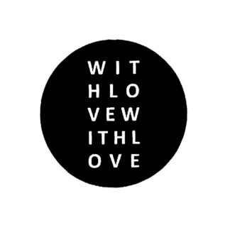 With Love - B+W Sticker