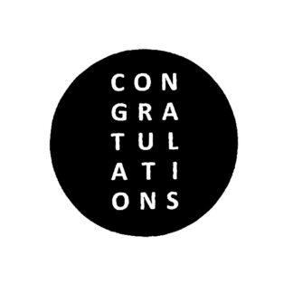 Congratulations B+W Sticker