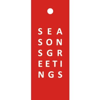 Seasons Greetings Red Gift Tag