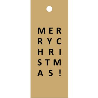 Merry Christmas Kraft Gift Tag