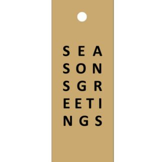 Seasons Greetings Kraft Gift Tag