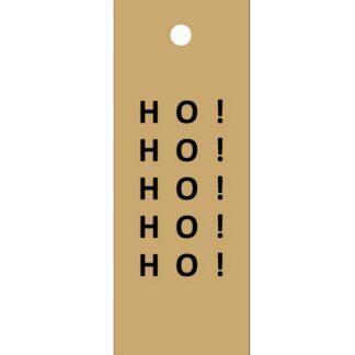 Ho! Ho! Ho! Kraft Gift Tag