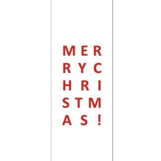 Merry Christmas White Gift Tag