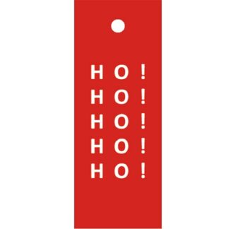 Ho! Ho! Ho! Red Gift Tag
