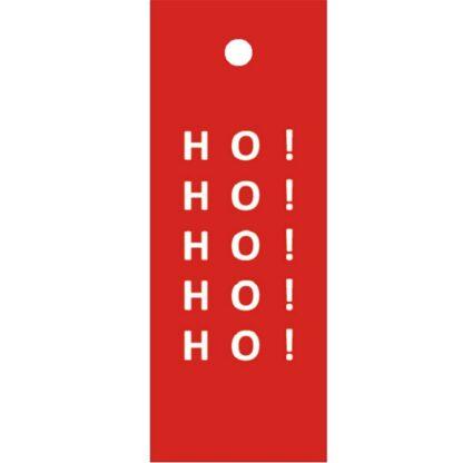 Ho! Ho! Ho! Red Gift Tag