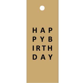 Happy Birthday Kraft Gift Tag