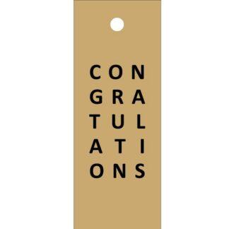 Congratulations Kraft Gift Tag
