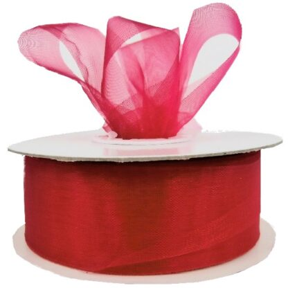 Hot Pink Organza Ribbon 25mm