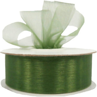 Avocado Organza Ribbon 25mm