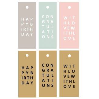 Letters Gift Tags