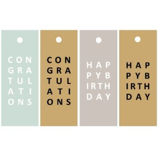 Everyday Letters Mix - Gift Tags