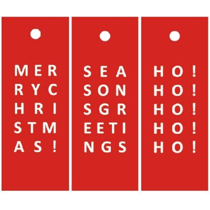 Christmas Letters Mix - Red Gift Tags