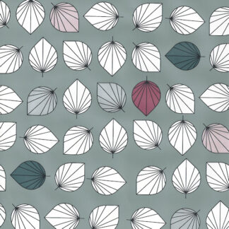 Grey Falling Leaves Wrapping Paper