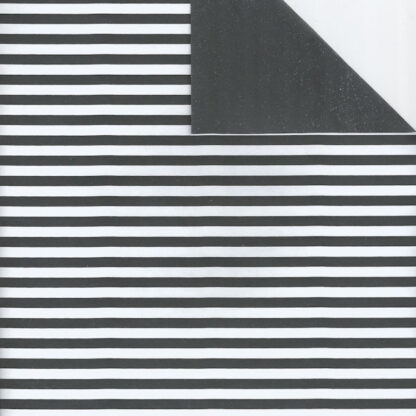 Matte DB Black Five Stripe Wrapping Paper