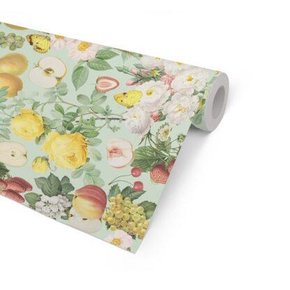 Summer Fruit on White Kraft Counter Roll