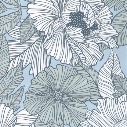 Matte Marquet Flower Wrapping Paper