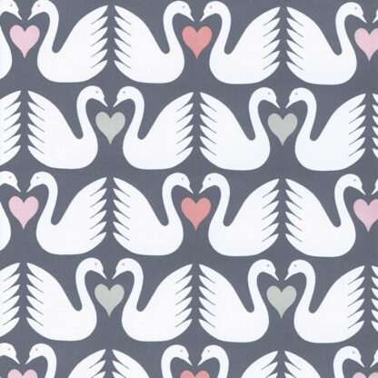 Matte Swan Wrapping Paper