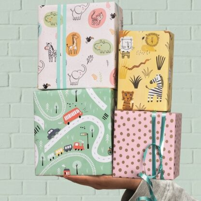 Counter Rolls of Gift Wrap