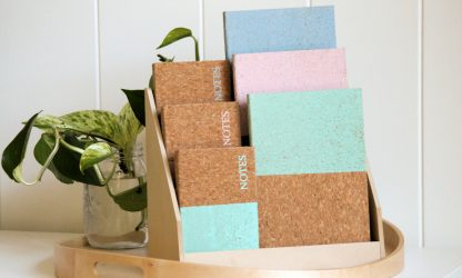 Dipped Cork Note Books
