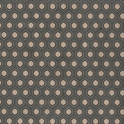 Black Hexagon Kraft Wrapping Paper