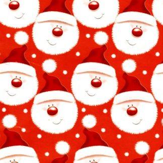 Fuzzy Santa Wrapping Paper