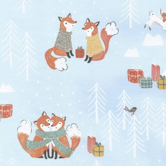 Matte Knitted Fox Wrapping Paper