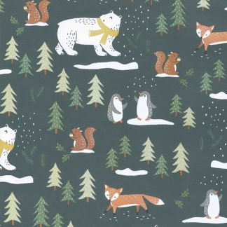 Matte Winter Wood Wrapping Paper