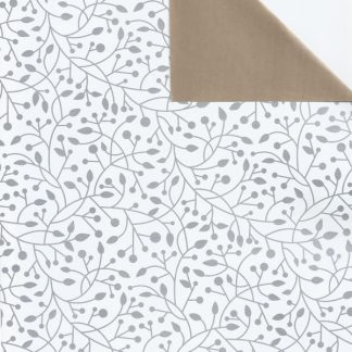 DB Bloom Silver+Copper Wrapping Paper