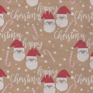 Juletide Kraft Wrapping Paper