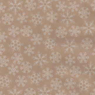 Snowflakes on Kraft Narrow Wrapping Paper