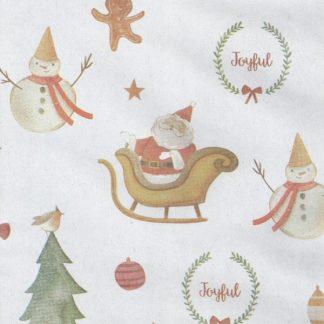 Matte Joyful Narrow Wrapping Paper