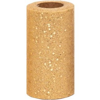 Gold Sequin Tulle