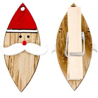 Santa Wooden Peg Clips