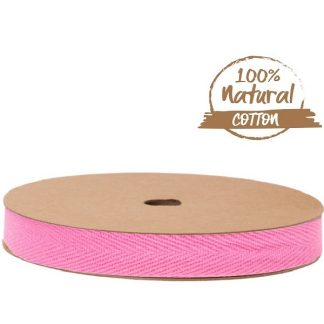 Bright Pink Cotton Ribbon