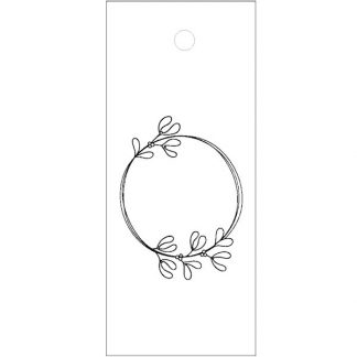 Wreath Drawing White Gift Tag