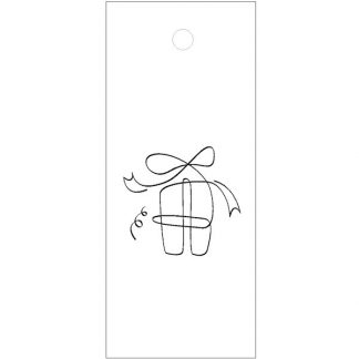 Gift Drawings White Gift Tag