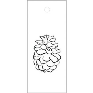 Pine Cone Drawing White Gift Tag