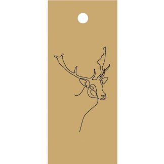 Stag Drawing Kraft Gift Tag