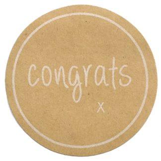 Congrats Kraft Sticker
