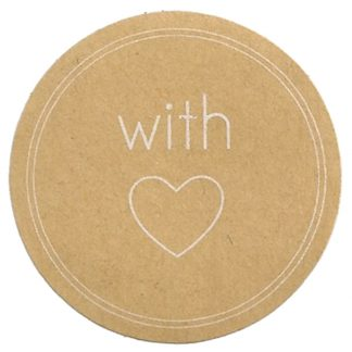 With Love Kraft Stickers