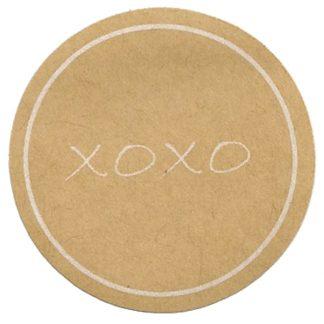 XOXO Kraft Sticker